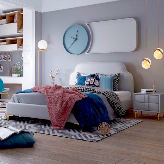 Giường ngủ hiện đại đơn giản 01