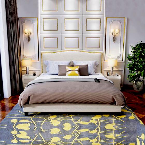 Giường ngủ hiện đại đơn giản 03