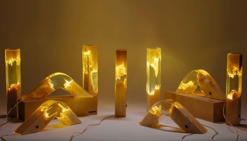 đèn epoxy để bàn tạo hình độc đáo