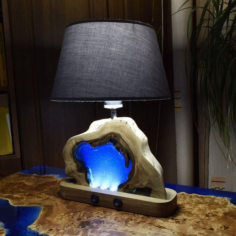 đèn epoxy kết hợp đèn chụp